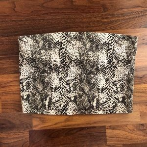 URBAN OUTFITTERS || Snakeskin Tube Top